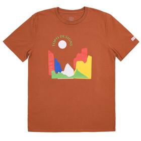 Topo Designs Sun Short Sleeve Tee Men clay
